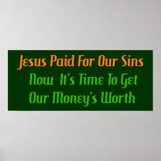 Pre-Paid Sin Print