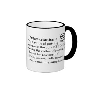 Pre/Postlactarianism Mug2 Ringer Mug