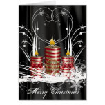 Pre-Printed Christmas Candle Card