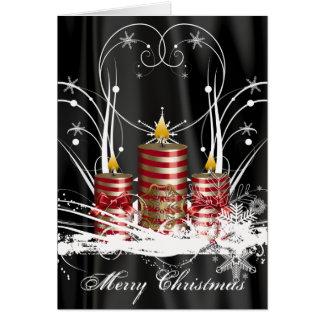 Pre-Printed Christmas Candle Card