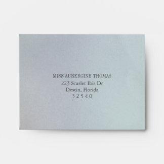 Pre-Printed Opaline Wedding Invitation Reply RSVP Envelope