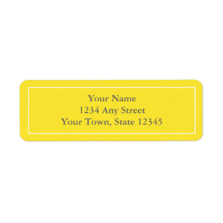 Pre-printed Yellow & Gray Return Address Labels