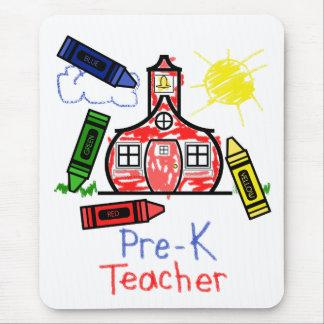 Pre profesor Mousepad de K - escuela y creyones