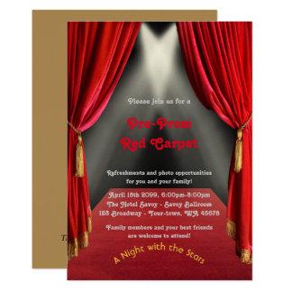 Pre-Prom invitation, Pre Prom,Red-Carpet,15th,16th Card