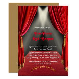 Pre Prom Invitation PromRed Carpet15th16th