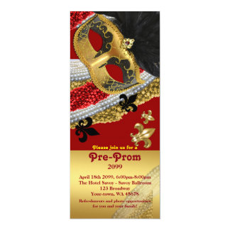 Pre-Prom Invitation Ticket,Pre Prom, masquerade