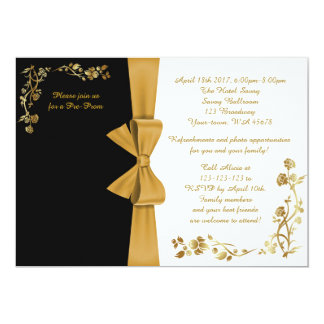 Pre-Prom invitation, white-&-black, RSVP included Card