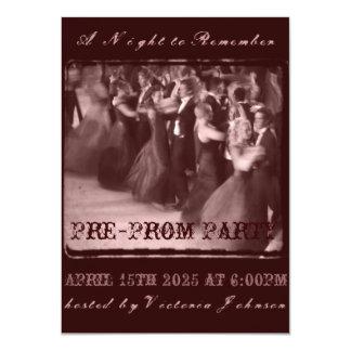 Pre-Prom Party Invitation | School Dance Pre-party