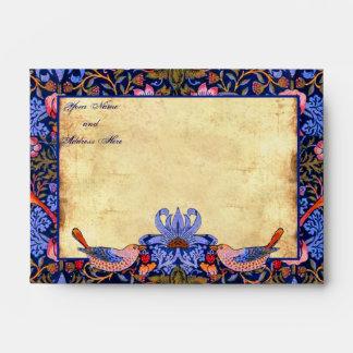 "Pre-Raphaelite (6 ½"" W x 4 3/4"" H) sobres"