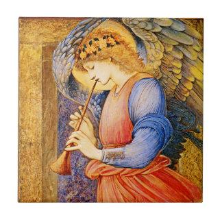 Pre-Raphaelite Christmas Angel Ceramic Tile