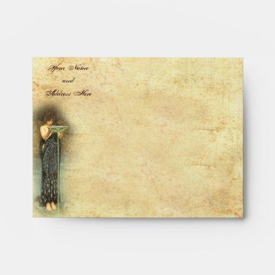 """Pre-Raphaelite Circe (5 ¾"""" W x 4 3/8"""" H) Envelopes"""
