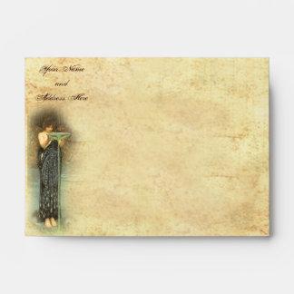 """Pre-Raphaelite Circe (6 ½"""" W x 4 3/4"""" H) Envelopes"""