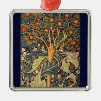 Pre-Raphaelite de la pulsación de corriente de Adorno Cuadrado Plateado