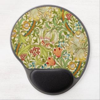 Pre-Raphaelite de oro del vintage del lirio de Alfombrillas Con Gel