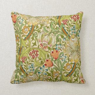 Pre-Raphaelite de oro del vintage del lirio de Cojín Decorativo