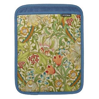 Pre-Raphaelite de oro del vintage del lirio de Funda Para iPads