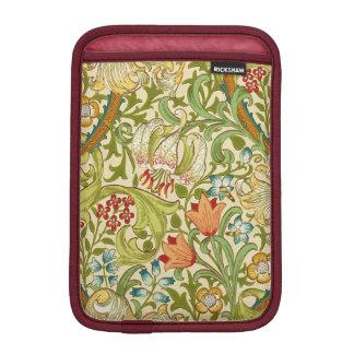 Pre-Raphaelite de oro del vintage del lirio de Fundas Para iPad Mini