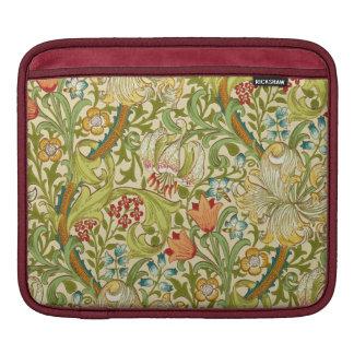 Pre-Raphaelite de oro del vintage del lirio de Fundas Para iPads