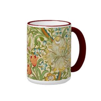 Pre-Raphaelite de oro del vintage del lirio de Taza De Dos Colores