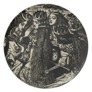 Pre-raphaelite del ejemplo de Dante Gabriel Rosset Plato