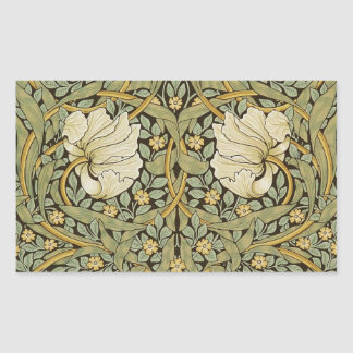 Pre-Raphaelite del vintage del Pimpernel de Pegatina Rectangular