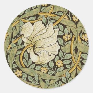 Pre-Raphaelite del vintage del Pimpernel de Pegatina Redonda