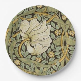 Pre-Raphaelite del vintage del Pimpernel de Plato De Papel De 9 Pulgadas