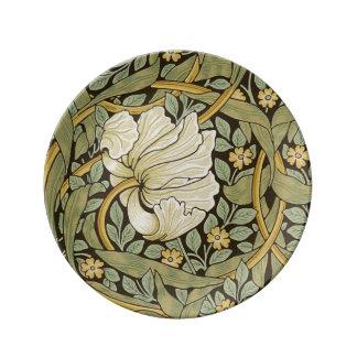 Pre-Raphaelite del vintage del Pimpernel de Platos De Cerámica