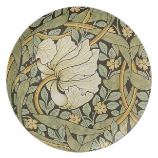 Pre-Raphaelite del vintage del Pimpernel de Platos Para Fiestas