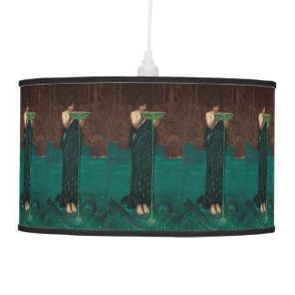 Pre-Raphaelite Fine Art Circe Invidiosa Hanging Lamp