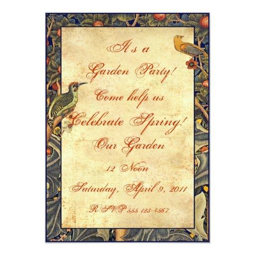 Pre-Raphaelite Garden Party Invitations