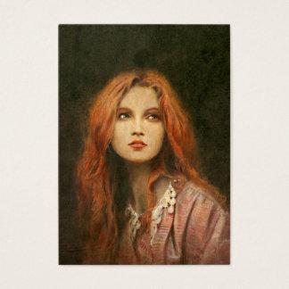 Pre-Raphaelite Girl ACEO Business Card