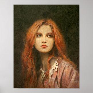 Pre-Raphaelite Girl Fine Art Print