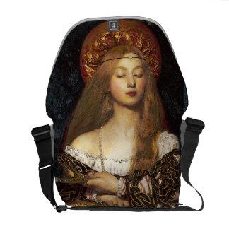 Pre-Raphaelite Lady Fine Art Messenger Bag