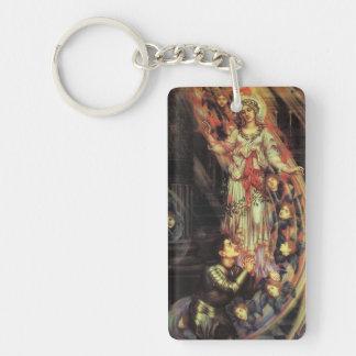 Pre-Raphaelite Madonna Keychain