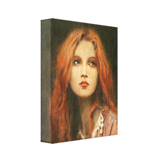 Pre-Raphaelite Muse Wrapped Canvas
