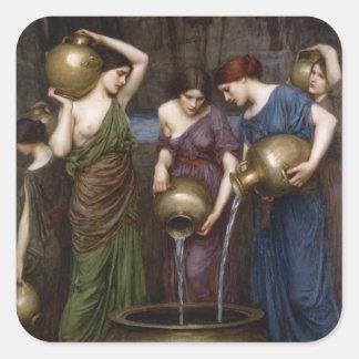 Pre-Raphaelite Vintage Art Square Sticker