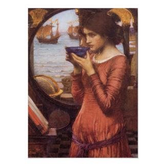 Pre-Raphaelite Woman Destiny by Waterhouse Card