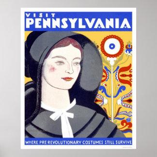 Pre Revolutionary Costume 1938 WPA Poster