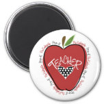 Pre rojo Apple del profesor de K Imán Redondo 5 Cm