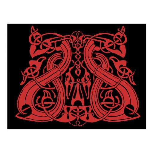 Pre rojo de Viking, postal