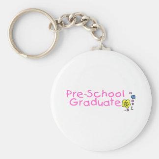 Pre-School Graduate Basic Round Button Keychain