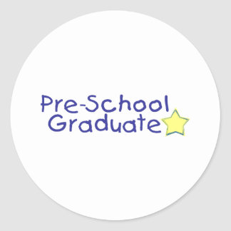 Pre-School Graduate (blue) Classic Round Sticker