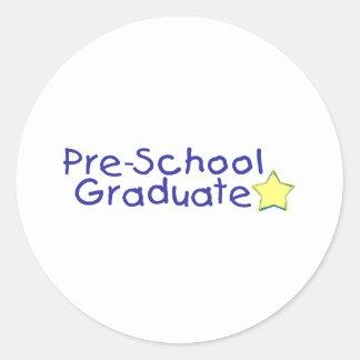 Pre-School Graduate (blue) Classic Round Sticker