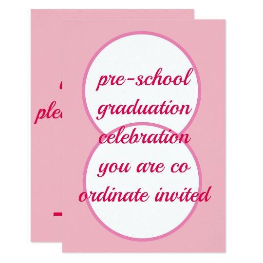 Pre School Graduation Celebration Invitation Card Zazzle Com