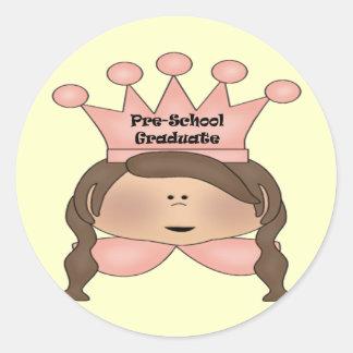 Pre-School Graduation Gifts Classic Round Sticker