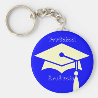 Pre-School Graduation Gifts Basic Round Button Keychain