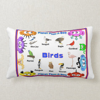 Pre-School Learning Pillow -Birds/Flowers