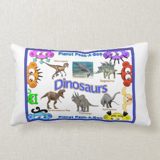 Pre-School Learning Pillow:Dinosaurs & Bugs Lumbar Pillow