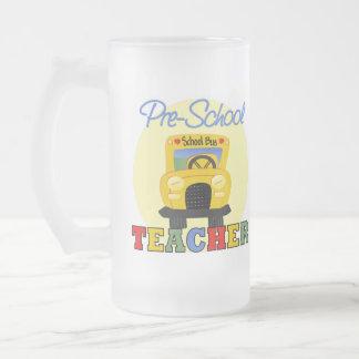 Pre-School Teacher Gift 16 Oz Frosted Glass Beer Mug